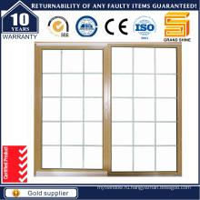 Современный дизайн двойного остекления Алюминиевые раздвижные окна / решетки Алюминиевые окна