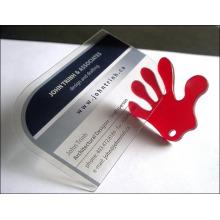 Claro / transparente de plástico de la fábrica de tarjetas de visita baratos