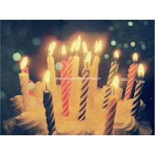 Stripe Party Candle Light up Birthday Party