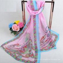 La fábrica vende directamente chales indios del cabo de la bufanda de la impresión popular de la capa