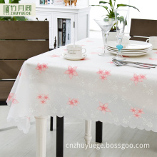 Eco-friendly plastic table cloth fabric printing designs in flowers