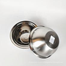 bol de soupe à nouilles en acier inoxydable fini argenté avec miroir
