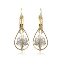 96128 xuping лучшие продажи 14k золотой цвет синтетический циркон модные женские серьги
