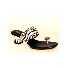 Classical MID Heel Women Slippers (HCY10-133)