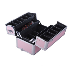 Boîtier en aluminium Boîte à petites boîtes en argent Caméra Carry Travel Case
