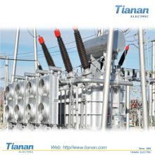 Transformateur de puissance électrique immergé au pétrole Transformateur de puissance 5 mva