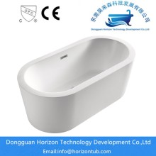 Modern acrylic oval bathtub