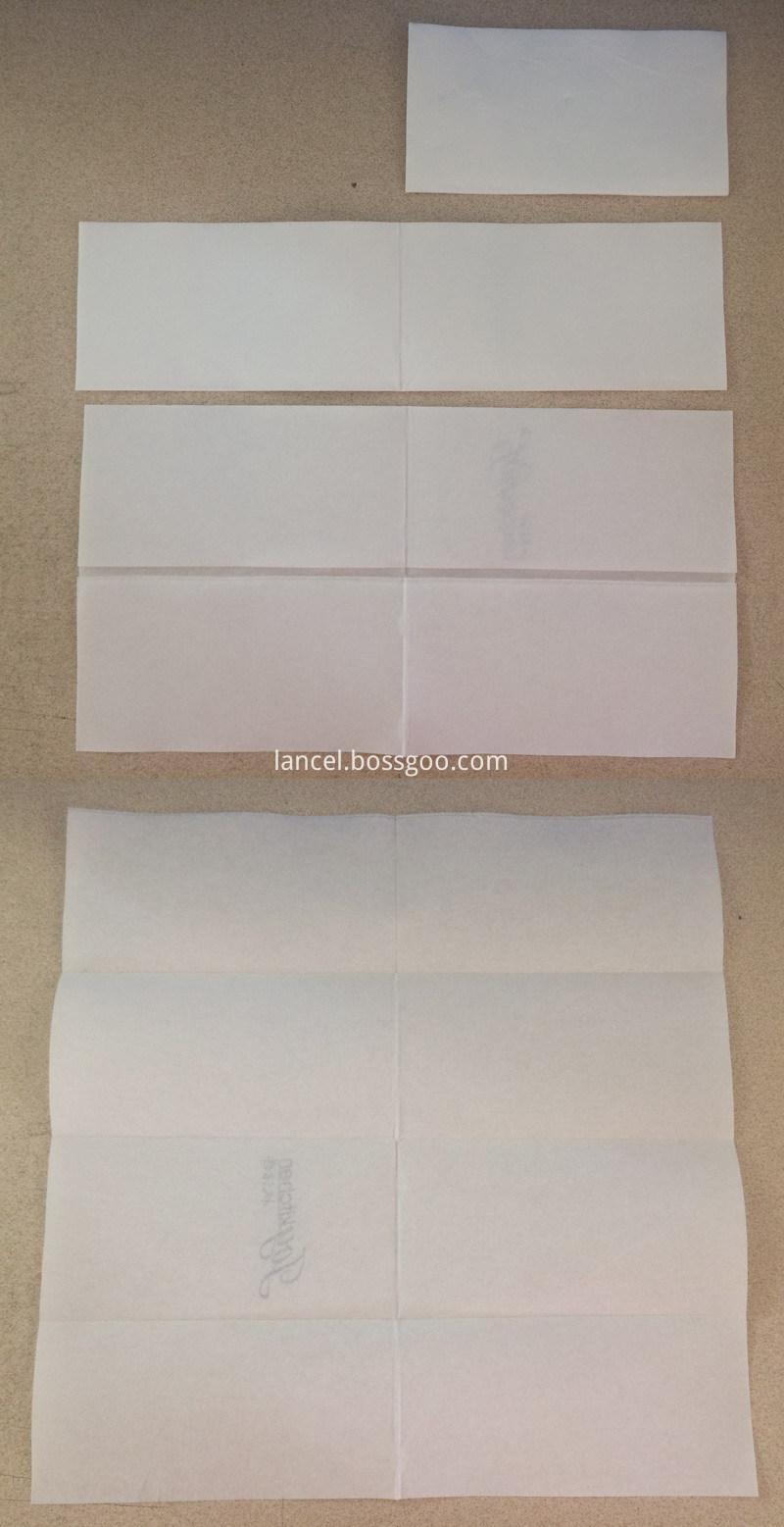 1/8 fold napkin tissue