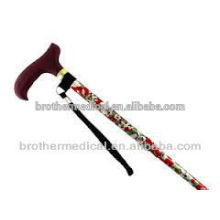 foldable aluminum arm walking cane colorful cane for elderly