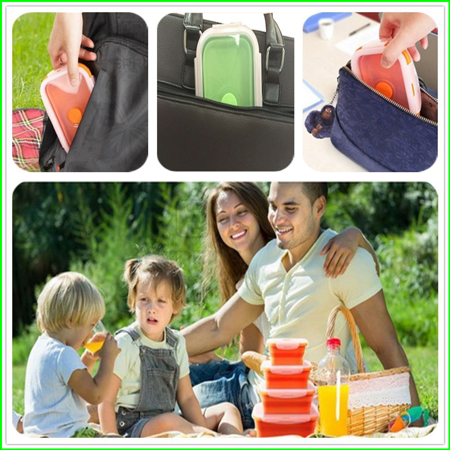 Outdoor-Silicone Food Storage Containers