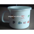china supplier custom logo black color custom enamel mug