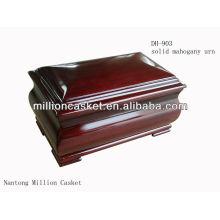 Exportação de urna de madeira sólida poplar DH-903 para pessoas e animais de estimação mercado não on-line