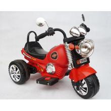 Das Motorrad der neuen Harley-Kinder / rotes und gelbes Motorrad