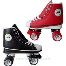 Nuevos zapatos de patinaje de cuatro ruedas de la rueda de la venta popular de la alta calidad