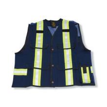 100% Cotton Navy Blue Supervisor Safety Vest