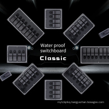12V24V Waterproof Classical Switch Panel with Fuse Breaker For Boat Marine Caravan RV