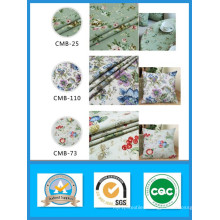 Hing Quality 100% Cotton Printed Flower Canvas Fabric in Stock Weight 180GSM Width 150cm