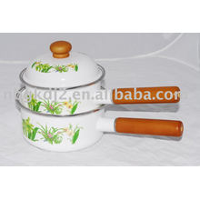 enamel single handle pot