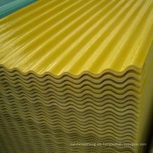 Paneles de luz natural de GRP Hoja de plástico reforzada con fibra de vidrio Hoja corrugada de FRP
