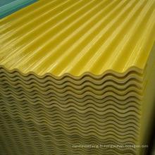 La feuille en plastique renforcée par fibre de verre de panneaux de lumière du jour de FRP a ridé la feuille ondulée