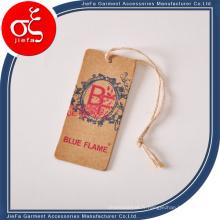 Étiquette volante de jeans personnalisés / étiquette en papier kraft / étiquettes de vêtements suspendus