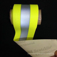 hight light fluorescent colorful reflective elastic weaving clothing elastic tape