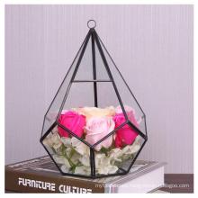 Hot Selling Diamond Shape Glass Plants Terrarium Geometric