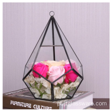 Hot Selling Diamond Shape Glass Plants Terrarium Geometric
