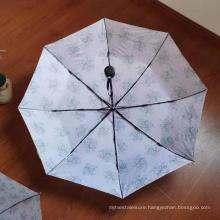 """New Design 21""""*8Ribs Auto Open 3 Folding Umbrella"""