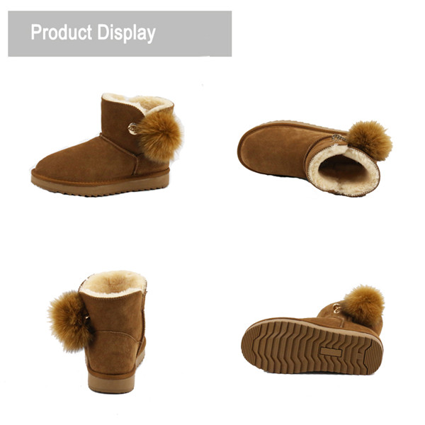 Fashionable ankle snow boots
