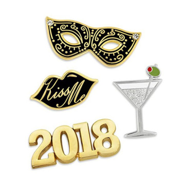 2018 New Years Eve Celebration Lapela Pin Set