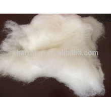 100% Pur Dehaired Chinois Mercerized White Sheep Wool, prix usine laine de mouton chinois.