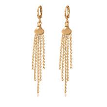 97259 xuping boa qualidade 18k cor de ouro moda personalizado senhoras brincos de corrente