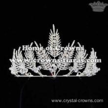 Crystal Bridal Wedding Tiaras In Leaves Shaped