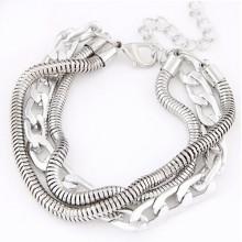 Forme a modelado el alibaba al por mayor de la pulsera de cadena de plata