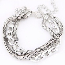 Fashion Modeling silver chain bracelet wholesale alibaba
