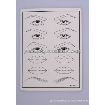 Tatuaje ceja / delineador Practica la piel de goma falsa