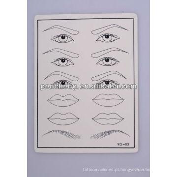 Sombra / eyeliner de tatuagem Prática de pele de borracha falsa