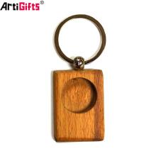 Regalos de promoción al por mayor Diseño personalizado Su propio llavero de madera