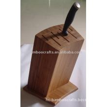 bamboo knife block set