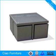Сохранение Су Мебель Из Синтетического Ротанга Wicker Обедая Таблица И Стул