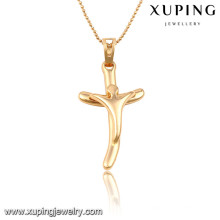 32704 Xuping trendy charm Christmas Gifts gold plated Cross pendant
