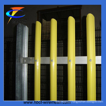 Colourful D or W Section Pale Palisade Fence