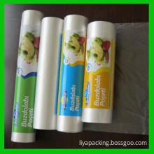 Plastic Bag on roll for packing food and beverage