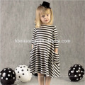 Los vestidos de los niños diseña el vestido rayado del algodón de la alta calidad ropa de mamá y yo con la manga larga