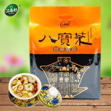 Chinesischer Kräuterblütentee enthält hauptsächlich Lakritze und getrocknete Mandarinenschale