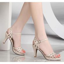 White Classcial High Heel Women Sandal