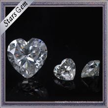 Taille adaptée aux besoins du client par taille super blanche et pierre de Moissanite de taille pour des bijoux