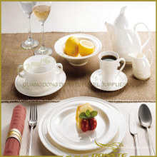 9 PCS White Porcelain Tableware Spin Lines for Hotel