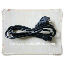 Cable de alimentación 3 clavijas Cable de alimentación estándar para PC